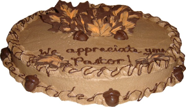 Pastor Appreciation Cake http://www.hollyskitchen.com/1cakegallery3.htm